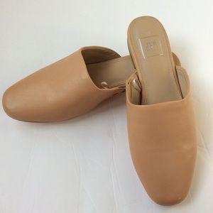 Gap slide mules slip on nude shoes